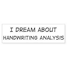 Dream about: Handwriting Anal Bumper Bumper Sticker