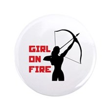 """HG Girl on fire 3.5"""" Button"""