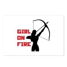 HG Girl on fire Postcards (Package of 8)