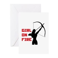 HG Girl on fire Greeting Cards (Pk of 10)