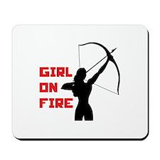 HG Girl on fire Mousepad