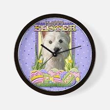 Easter Egg Cookies - Westie Wall Clock