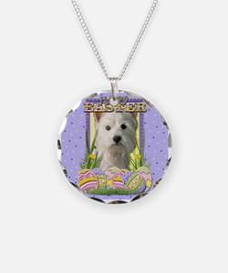 Easter Egg Cookies - Westie Necklace