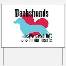 Dachshund Pawprints Yard Sign