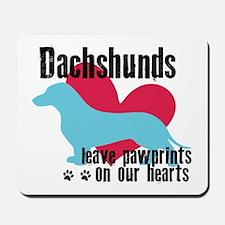 Dachshund Pawprints Mousepad