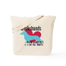 Dachshund Pawprints Tote Bag