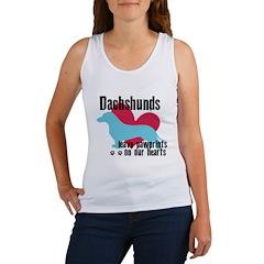 Dachshund Pawprints Women's Tank Top