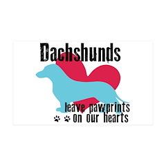 Dachshund Pawprints 38.5 x 24.5 Wall Peel