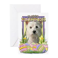 Easter Egg Cookies - Westie Greeting Card
