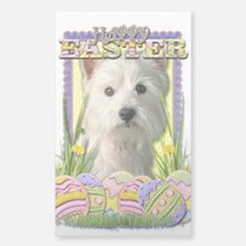 Easter Egg Cookies - Westie Sticker (Rectangle)