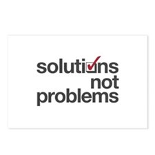 """Solutions not Problems"" Postcards (Package of 8)"