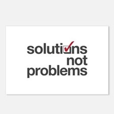 """""""Solutions not Problems"""" Postcards (Package of 8)"""