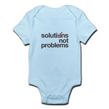 """""""Solutions not Problems"""" Onesie"""