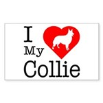 I Love My Collie Sticker (Rectangle 10 pk)