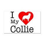 I Love My Collie Car Magnet 20 x 12