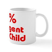 100% Intelligent Black Child Mug