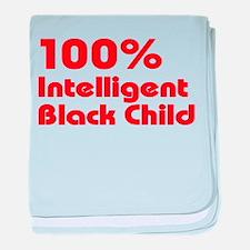 100% Intelligent Black Child baby blanket