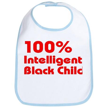 100% Intelligent Black Child Bib