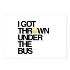 """""""Thrown Under the Bus"""" Postcards (Package of 8)"""