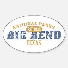 Big Bend National Park Texas Sticker (Oval)