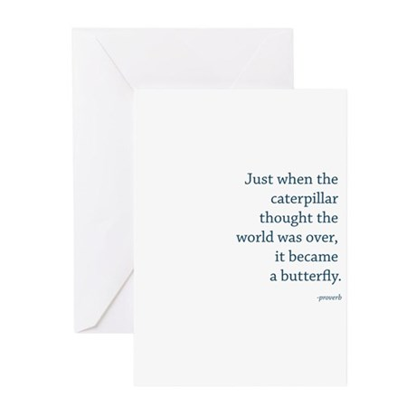 """Caterpillar Proverb"" Greeting Cards (Pk of 20)"