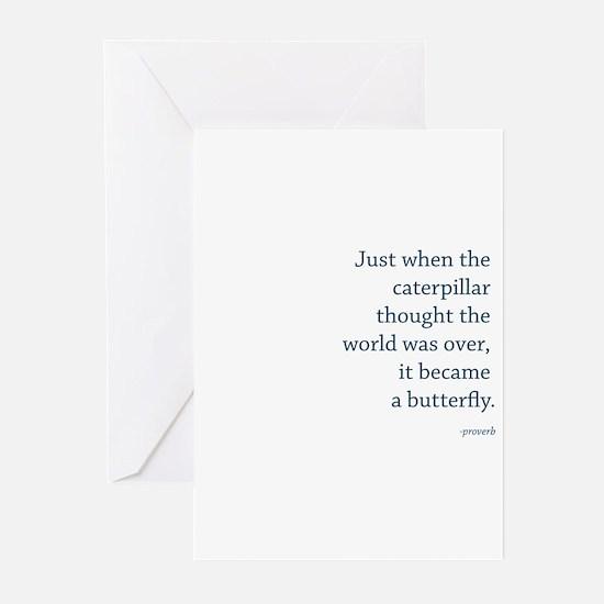 """""""Caterpillar Proverb"""" Greeting Cards (Pk of 20)"""