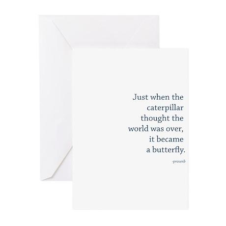 """""""Caterpillar Proverb"""" Greeting Cards (Pk of 10)"""