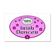 Pink 100% Irish Dancer Car Magnet 20 x 12