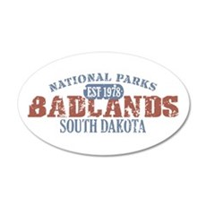 Badlands National Park SD 22x14 Oval Wall Peel