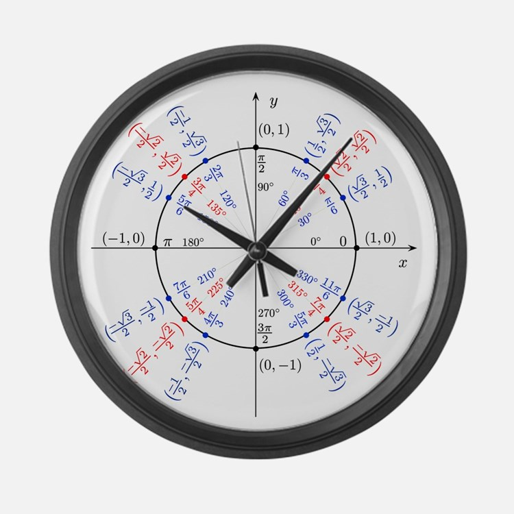 Trigonometry Clocks Trigonometry Wall Clocks Large