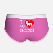 I Love My Dachshund Women's Boy Brief
