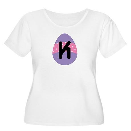 Easter Letter K Monogram Women's Plus Size Scoop N