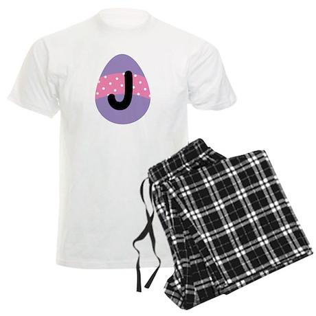 Easter Letter J Monogram Men's Light Pajamas