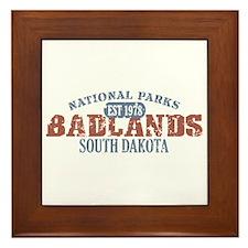 Badlands National Park SD Framed Tile