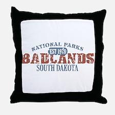 Badlands National Park SD Throw Pillow