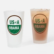 USofA Organic Obama Drinking Glass