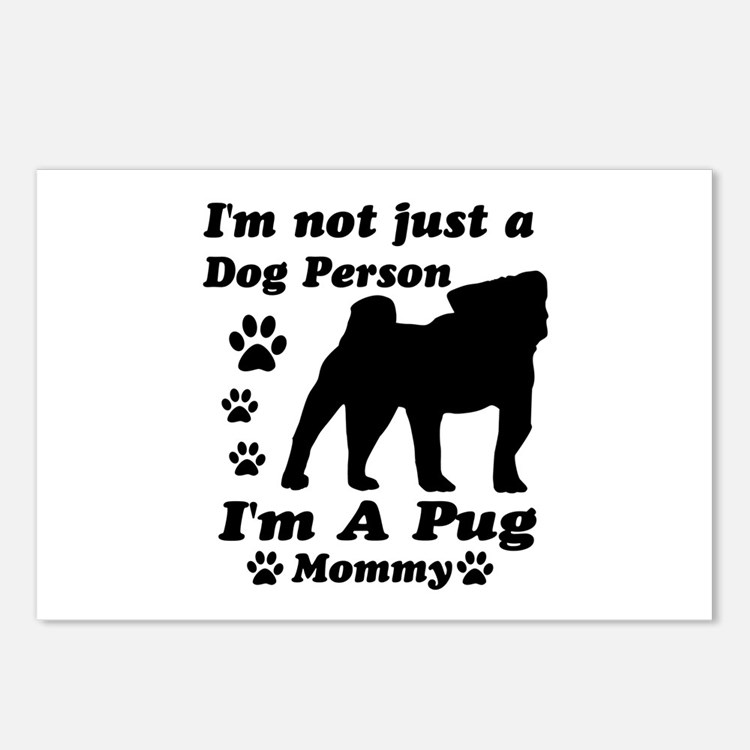 Pug Mommy Postcards (Package of 8)