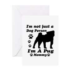 Pug Mommy Greeting Card