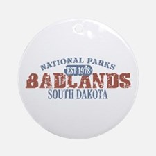 Badlands National Park SD Ornament (Round)