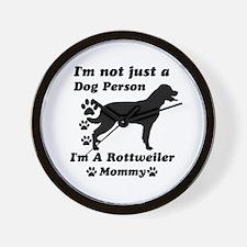 Rottweiler Mommy Wall Clock