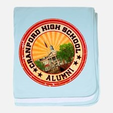 Cranford High Alumni Graphic baby blanket