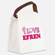 I Love Efren Canvas Lunch Bag