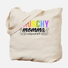 CRUNCHY MOMMA white Tote Bag