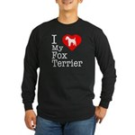 I Love My Fox Terrier Long Sleeve Dark T-Shirt