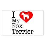 I Love My Fox Terrier Sticker (Rectangle)