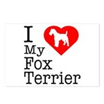 I Love My Fox Terrier Postcards (Package of 8)