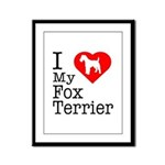 I Love My Fox Terrier Framed Panel Print