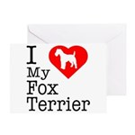 I Love My Fox Terrier Greeting Card