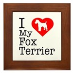 I Love My Fox Terrier Framed Tile