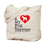 I Love My Fox Terrier Tote Bag